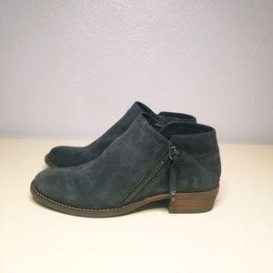Dolce Vita grey suede zipper booties